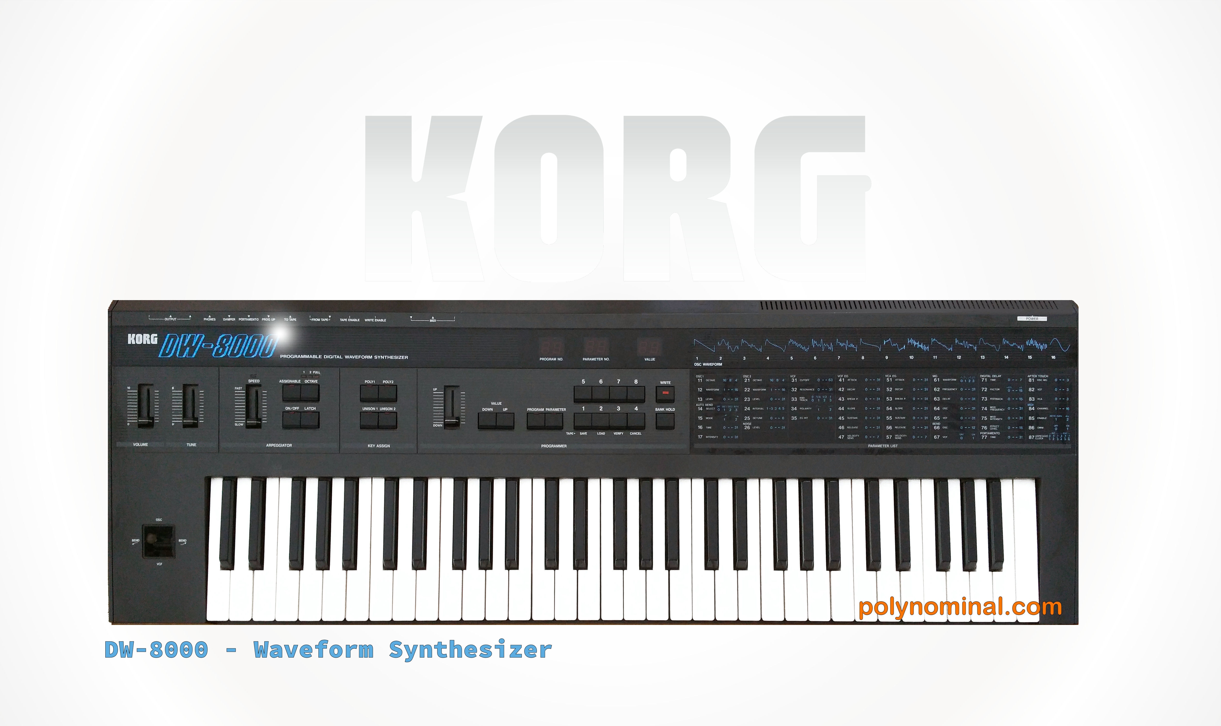 korg dw8000 dwgs synthesizer korg dw 8000  at mifinder.co