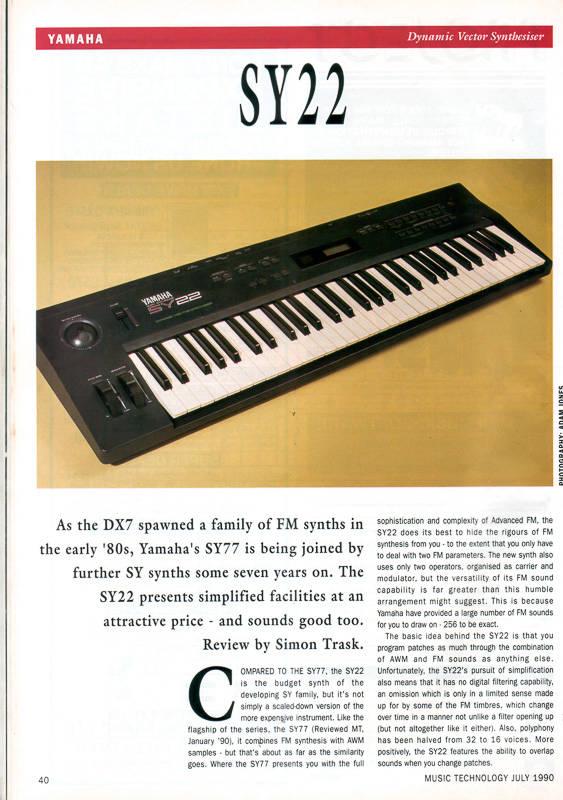 Yamaha SY-55 Digital Synthesizer