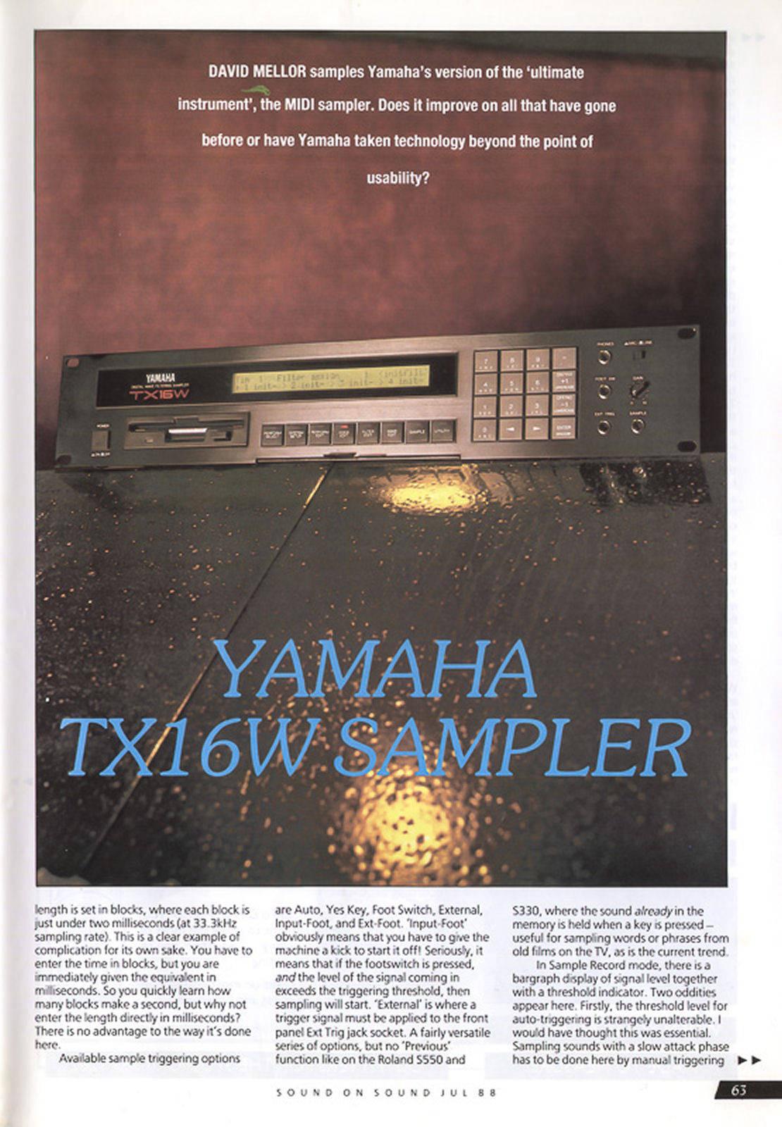 Yamaha TX16W